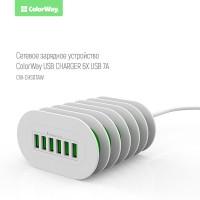COLORWAY CARICATORE USB CON 6 PORTE MAX 7A