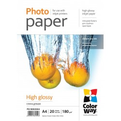 CARTA FOTOGRAFICA A4 COLORWAY HIGH GLOSSY 180G 20FOGLI
