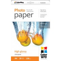 CARTA FOTOGRAFICA A4 COLORWAY HIGH GLOSSY 230G 20FOGLI
