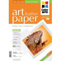CARTA FOTOGRAFICA A4 COLORWAY ART GLOSSY LEATHER 230G 10FOGLI