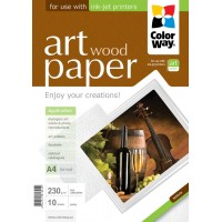 CARTA FOTOGRAFICA A4 COLORWAY ART GLOSSY WOOD 230G 10FOGLI