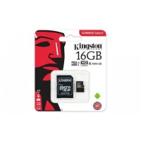 KINGSTON SECURE DIGITAL MICRO SDCS/16GB C/AD. CL10