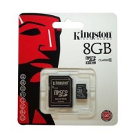 KINGSTON MICRO SDHC 8GB CLASSE 4 CON ADATTATORE