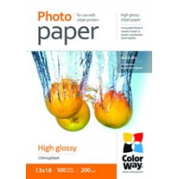 CARTA FOTOGRAFICA 13X18 COLORWAY HIGH GLOSSY 100 FOGLI 200G