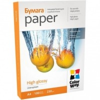 CARTA FOTOGRAFICA A4 COLORWAY HIGH GLOSSY 230G 100FOGLI
