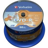 VERBATIM DVD-R 16X PRINTABLE 50 TUB