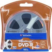 VERBATIM DVD-R DIGITAL MOVIE BLISTER DA 10