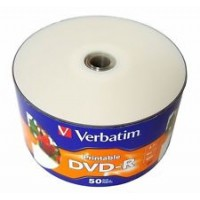 VERBATIM DVD-R 16X PRINTABLE 50 CELL