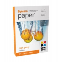 CARTA FOTOGRAFICA A4 COLORWAY HIGH GLOSSY 180G 100FOGLI