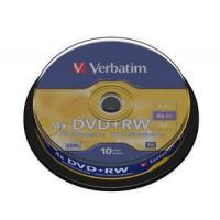 VERBATIM DVD+RW 4X 10 TUB 200 BOX