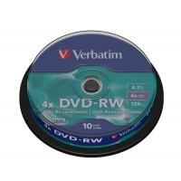 VERBATIM DVD-RW 4X 10 TUB 200 BOX