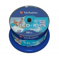 VERBATIM DATALIFE CD-R PRINTABLE CB 50